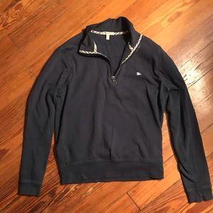 Mens navy blue half zip sweater